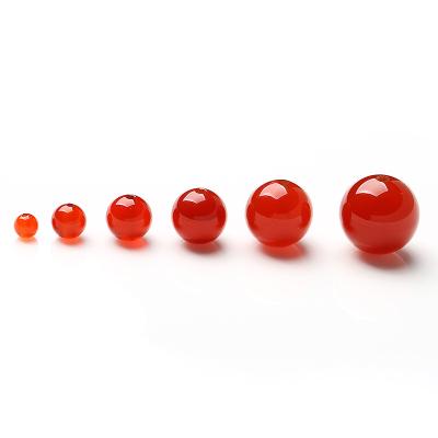 帛蘭梓韻 DIY手工飾品配件材料水晶珠子天然紅瑪瑙串珠散珠10mm