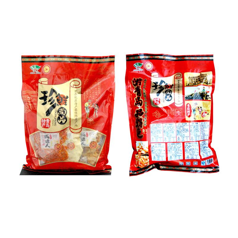 海边人 青岛特产 鱿鱼丝休闲零食 海鲜零食大礼包968g