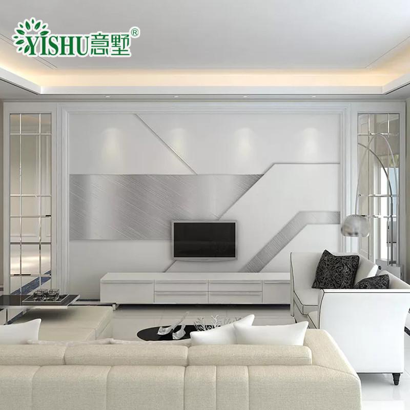 现代简约客厅3d电视背景墙装饰墙砖微晶石客厅大理石简欧造型边框影视