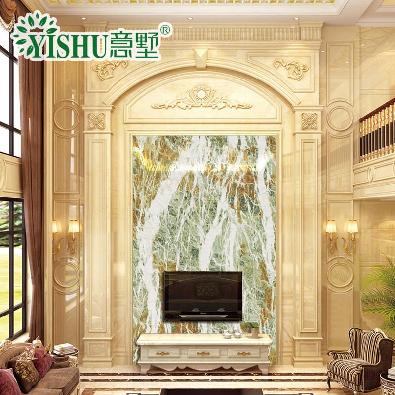 意墅 大理石背景墙瓷砖3d高温微晶石客厅整体墙面艺术