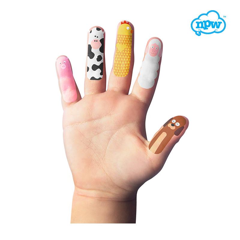 npw礼品彩绘指甲纹身贴纸安全无毒手指玩偶贴纸