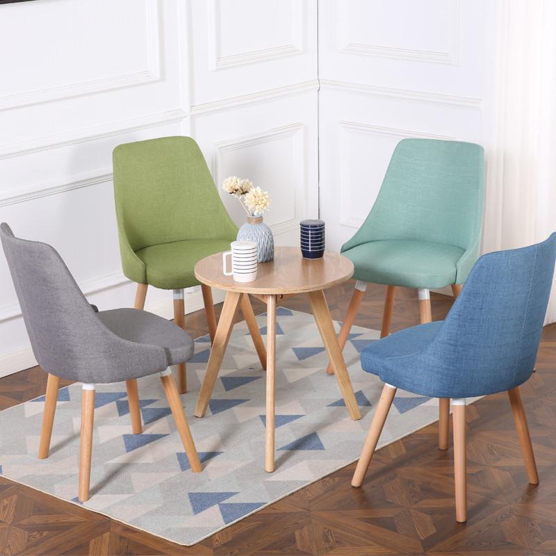 【艺秀园】布艺餐椅休闲桌椅组合三件套休闲凳子咖啡厅户外阳台庭院客