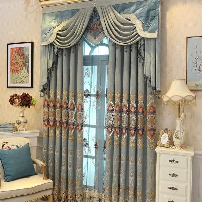 幸福派 2019新款欧式轻奢窗帘遮光北欧简约卧室客厅高档欧式大气镂空奢华免打孔布定制