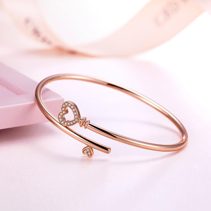 玫瑰金钻石手镯