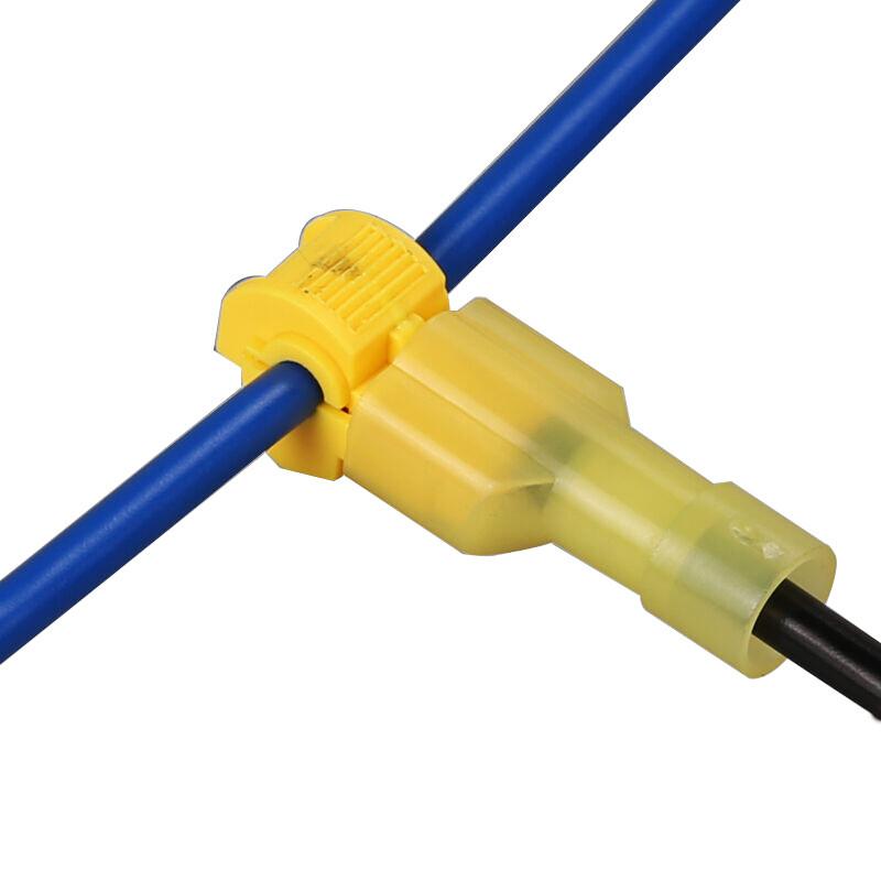电线接线端子快速连接器免破线接头无损分接线器线卡子接线夹黄t3