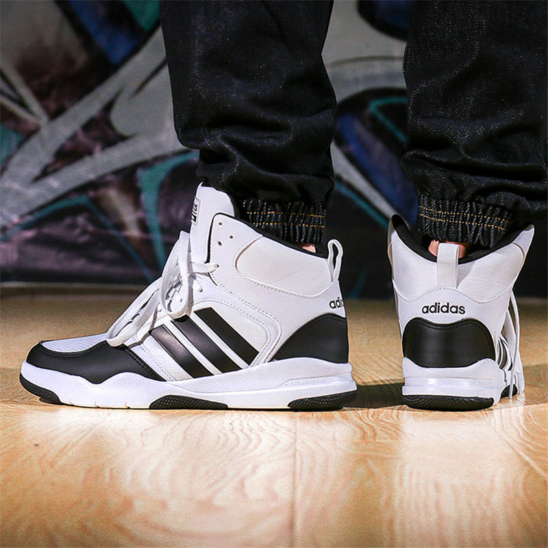 adidas/阿迪达斯 男鞋 neo 运动鞋高帮保暖休闲鞋板鞋图片