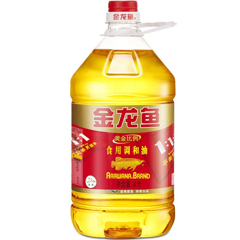 _金龙鱼调和油4l桶装大桶食用油食用调和油植物油粮油家用桶装油金龙
