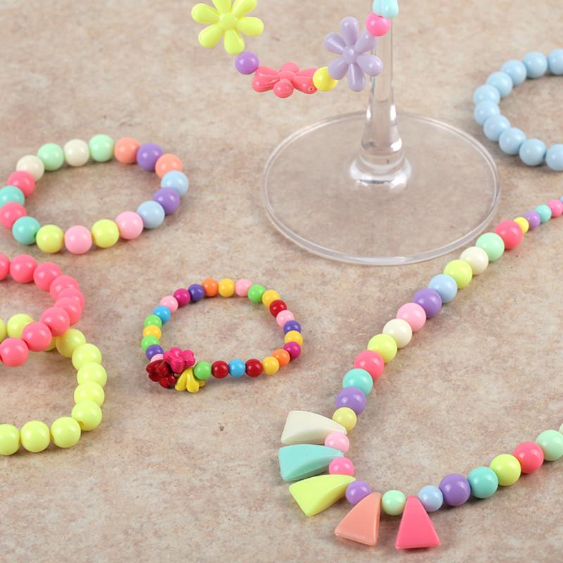 玩具女孩 diy串珠儿童玩具女 手工制作手链项链 益智玩具 【24格】