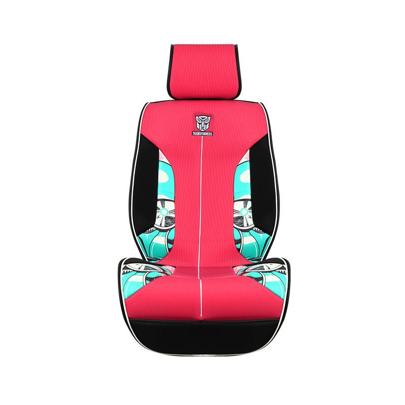 变形金刚 汽车坐垫四季通用免捆绑pu皮 3d透气网布 通用座椅套 小灵通