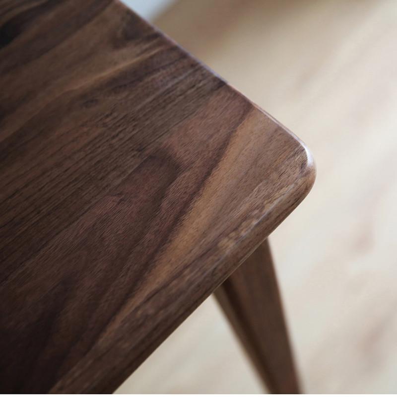 淮木(huaimu) 白橡木黑胡桃 实木原木桌子书桌 餐桌