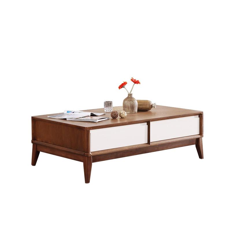 淮木 客厅创意地中海带抽屉储物茶桌子北欧茶几简约现代小户型家具