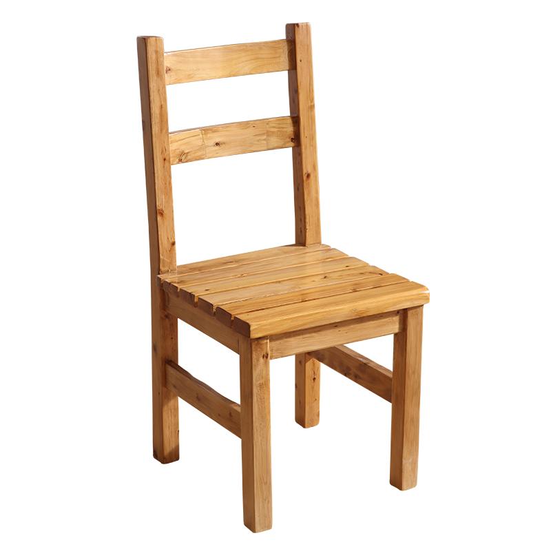 乡村田园实木简单餐椅 全柏木原木椅子 木质电脑椅书桌椅 木头椅子