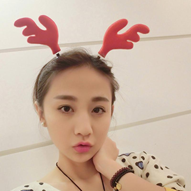 彩丽馆 圣诞节装饰品 韩国发饰鹿角发箍可爱头饰韩版男女儿童头箍发卡
