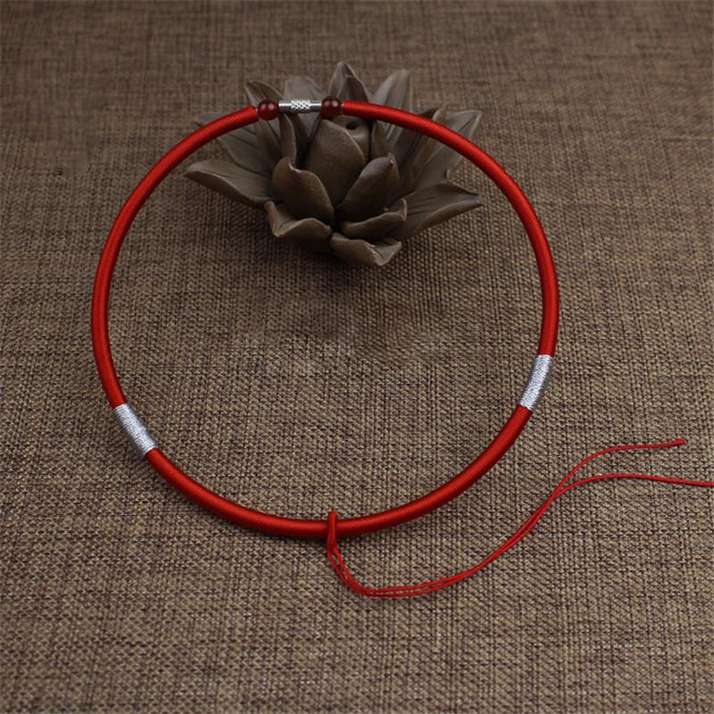 彩丽馆手工编织婴儿童宝宝项圈吊坠绳项链绳金锁银锁专用挂绳配饰