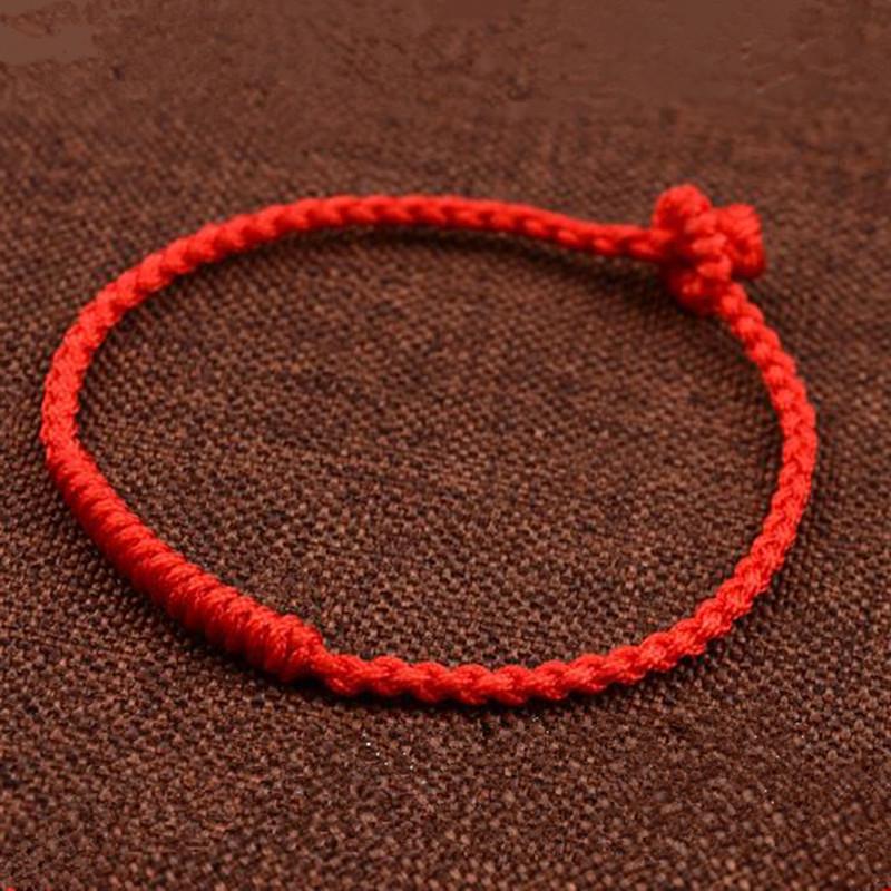 彩丽馆 金刚结玉线手工编织本命年红绳子手链男女情侣