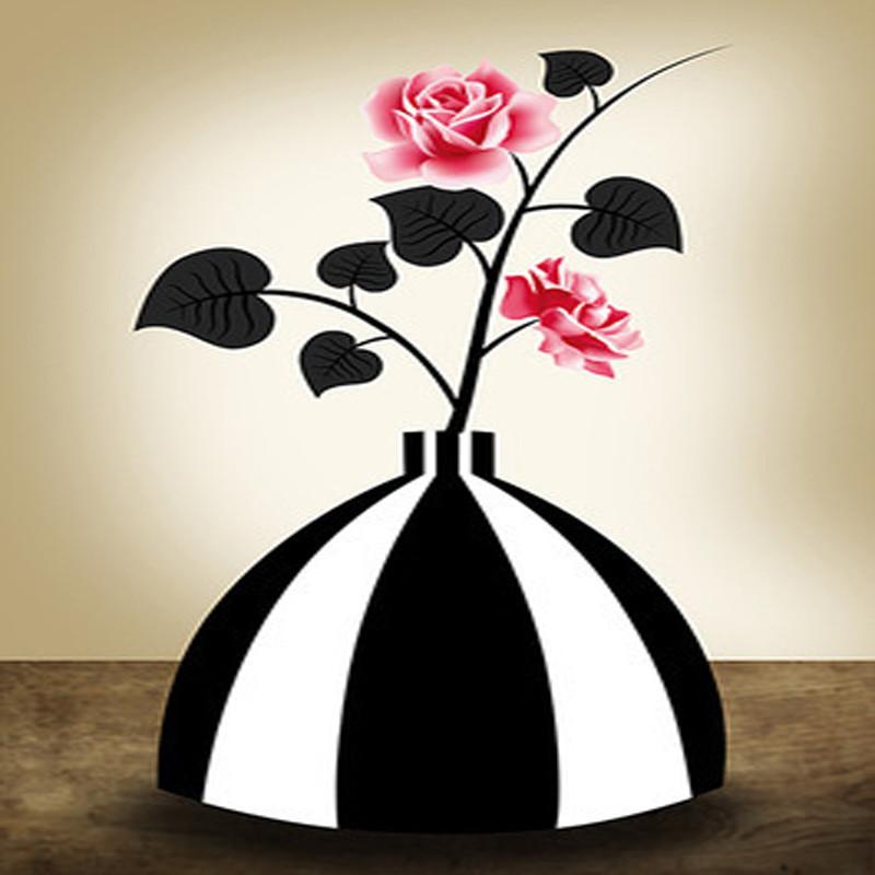 卡通带眼镜的花瓶简笔画