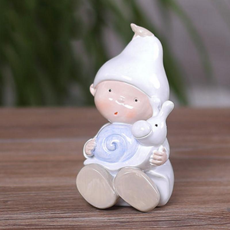 彩丽馆可爱小精灵存钱罐摆件儿童房间装饰品摆设迷你工艺品储蓄罐