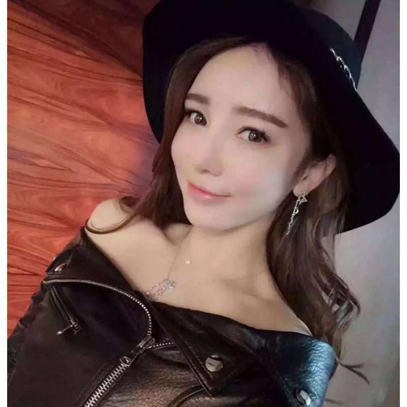 彩丽馆网红李李同款星星月亮耳钉女韩国气质不对称锆石纯银耳环耳坠