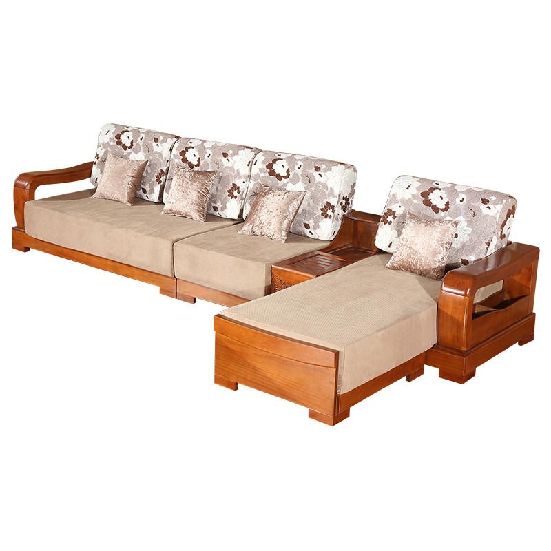 千住明实木沙发组合新中式橡木沙发全实木现代客厅 明