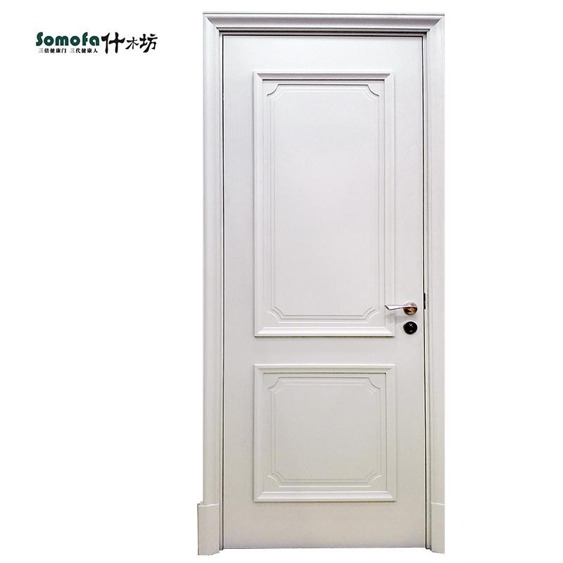 什木坊白色美式木门室内套装门实木复合卧室门烤漆门全屋定做