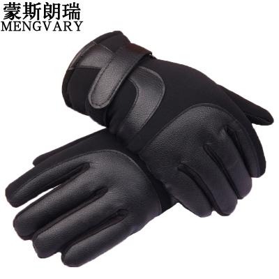 蒙斯朗瑞冬季保暖手套男士户外运动防滑骑行手套男冬加绒加厚防风触屏手套