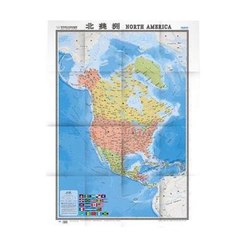 世界热点国家地图·北美洲(1:11600000)