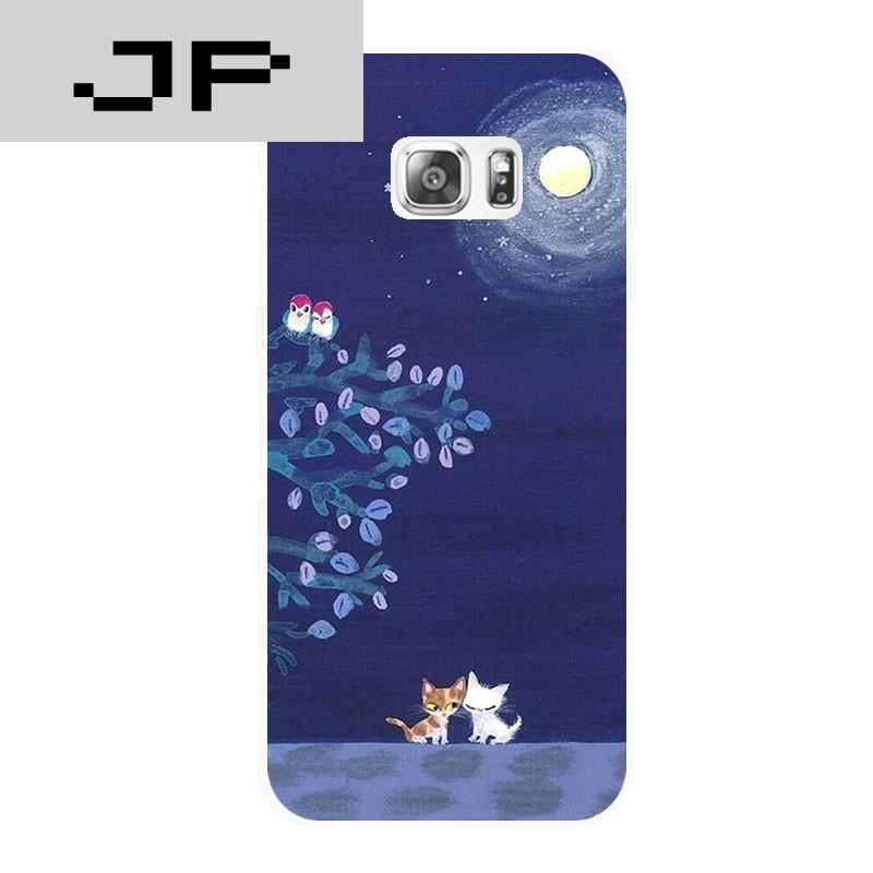 jp潮流品牌夜色星空可爱动物猫咪 三星note34 a578 c5