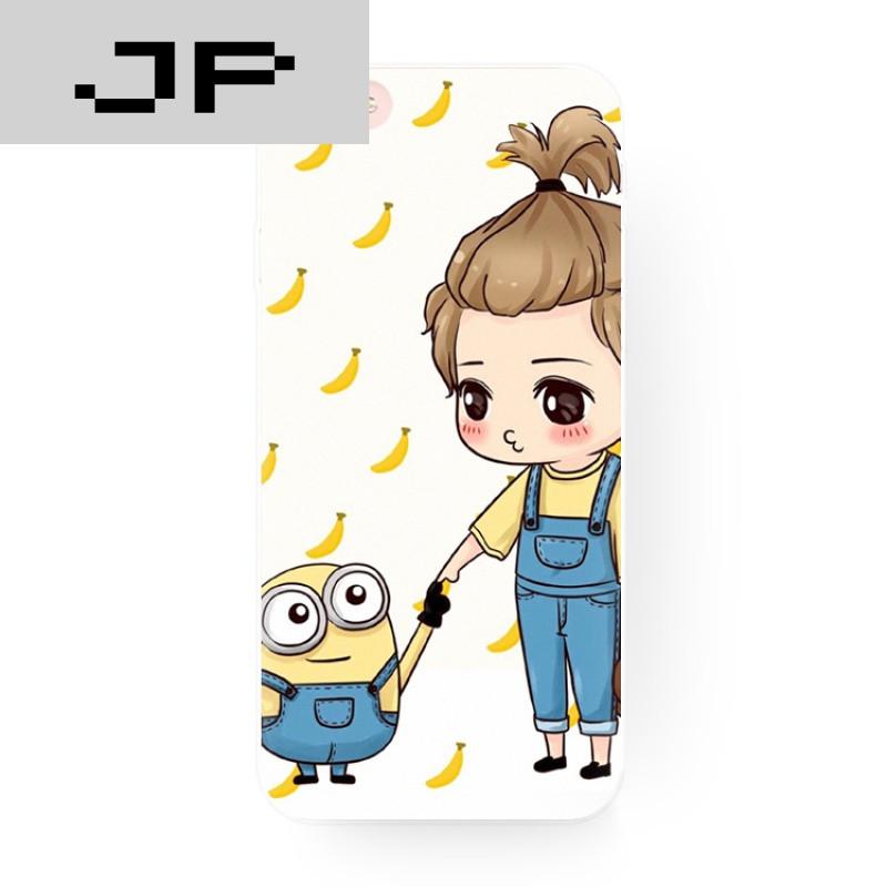 jp潮流品牌创意可爱卡通小黄人女iphone6s苹果6splus手机壳5.