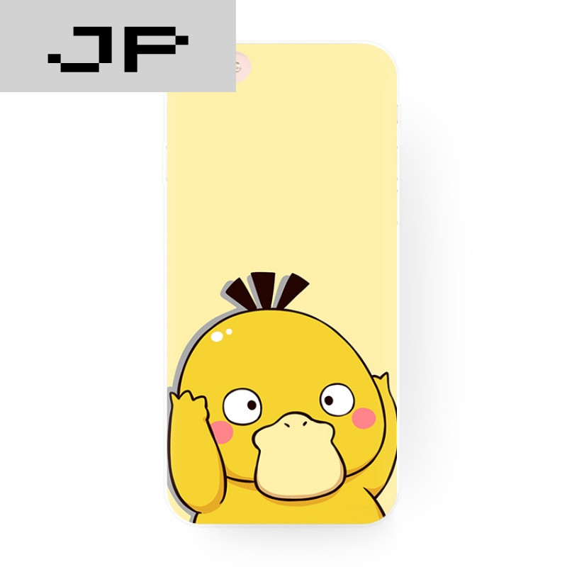 jp潮流品牌口袋q版可达鸭傻鸭苹果6s5se手机壳iphone7