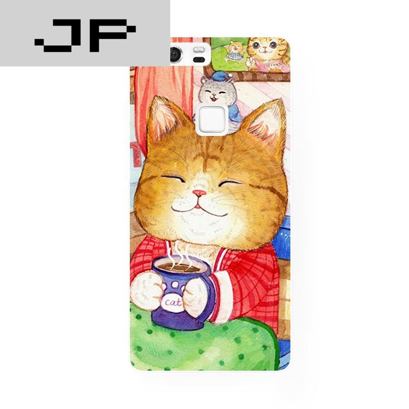 jp潮流品牌日系原创可爱漫画卡通猫咪华为 p8 9荣耀6
