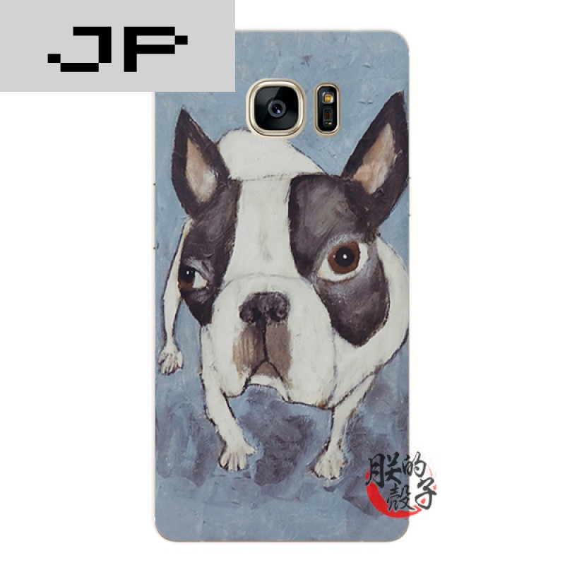 jp潮流品牌创意手绘一只斗牛犬三星note345 a789 c57手机壳s567edge