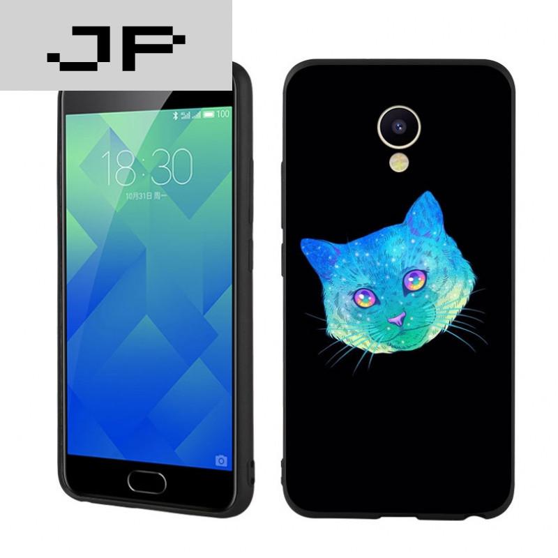 jp潮流品牌 个性炫彩猫魅族 魅蓝5s手机壳潮流时尚简约可爱猫头硅胶