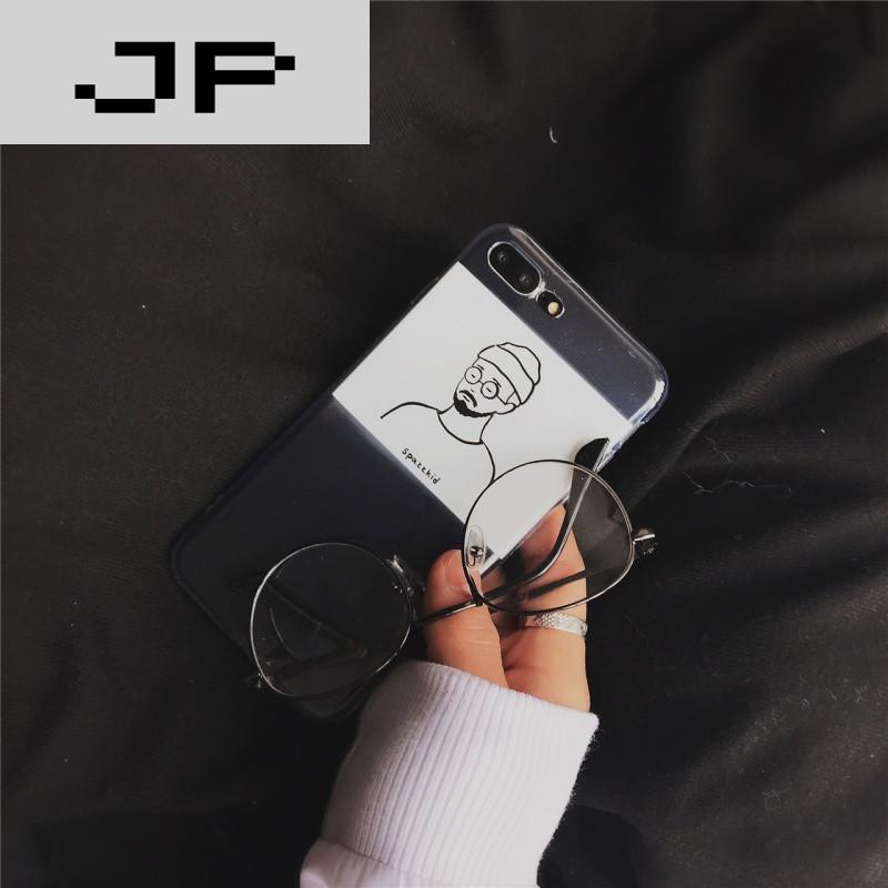 jp潮流品牌韩国ins风 简约手绘 苹果6手机壳iphone7/6s/plus创意个性
