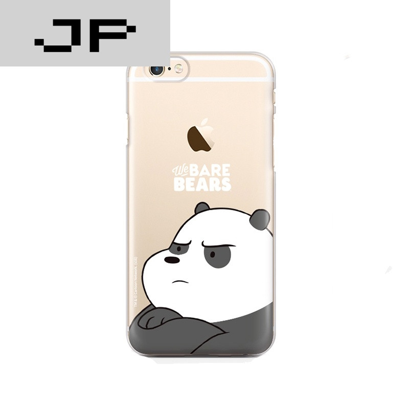 jp潮流品牌咱们裸熊iphone6手机壳卡通情侣苹果7plus保护套薄6s软硅胶