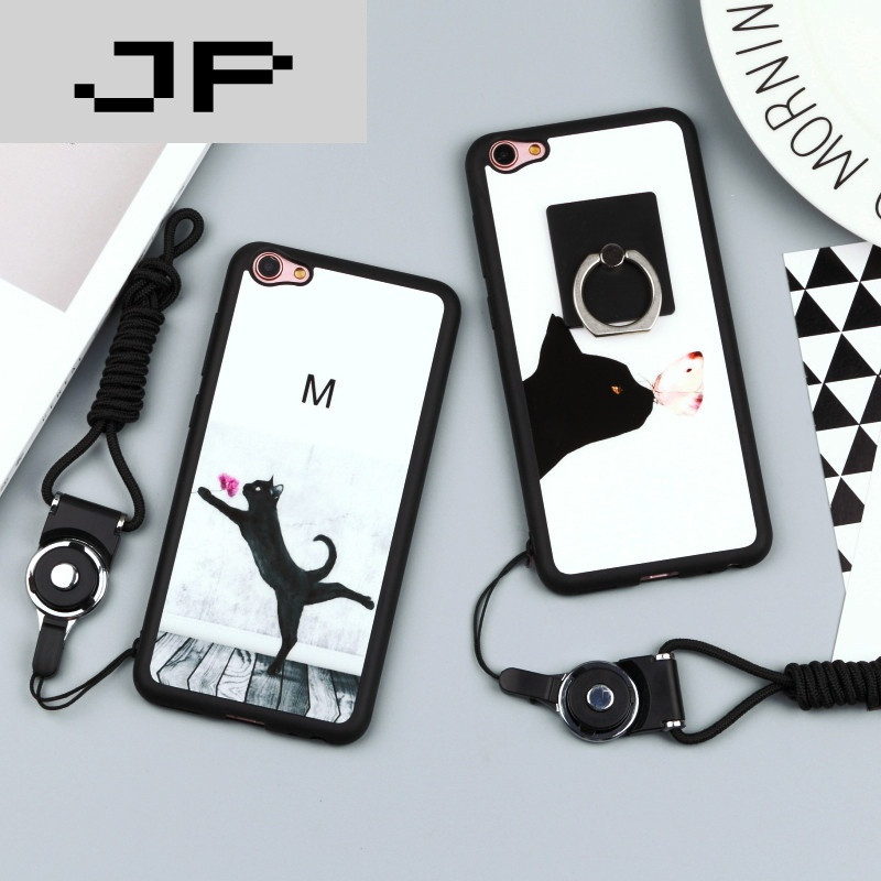 jp潮流品牌vivox7手机壳x7plus个性可爱猫咪保护套硅胶软壳x7挂绳支架