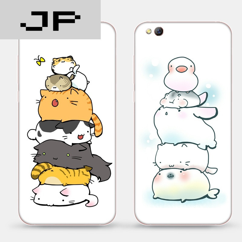 jp潮流品牌小米5c/5/5s plus手机软壳保护套搞怪动物表情叠罗汉松鼠裸