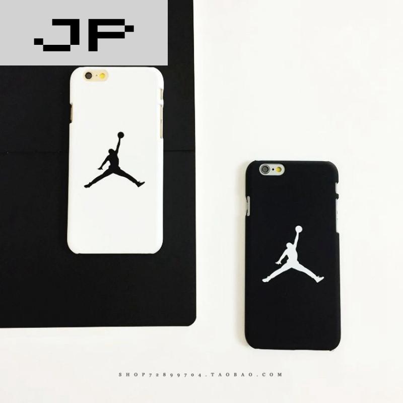 品牌简约黑白苹果6s手机壳iphone6/plus保护套潮牌磨砂硬5se篮球飞人