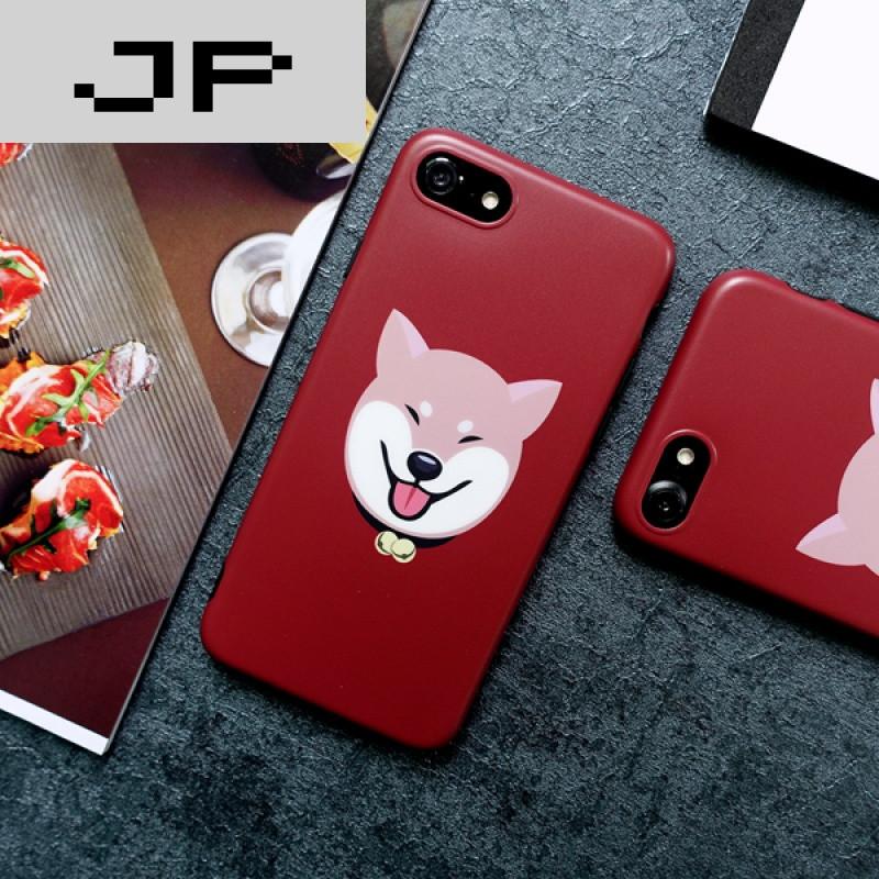 jp潮流品牌趣味可爱柴犬苹果6s磨砂手机壳iphone7plus