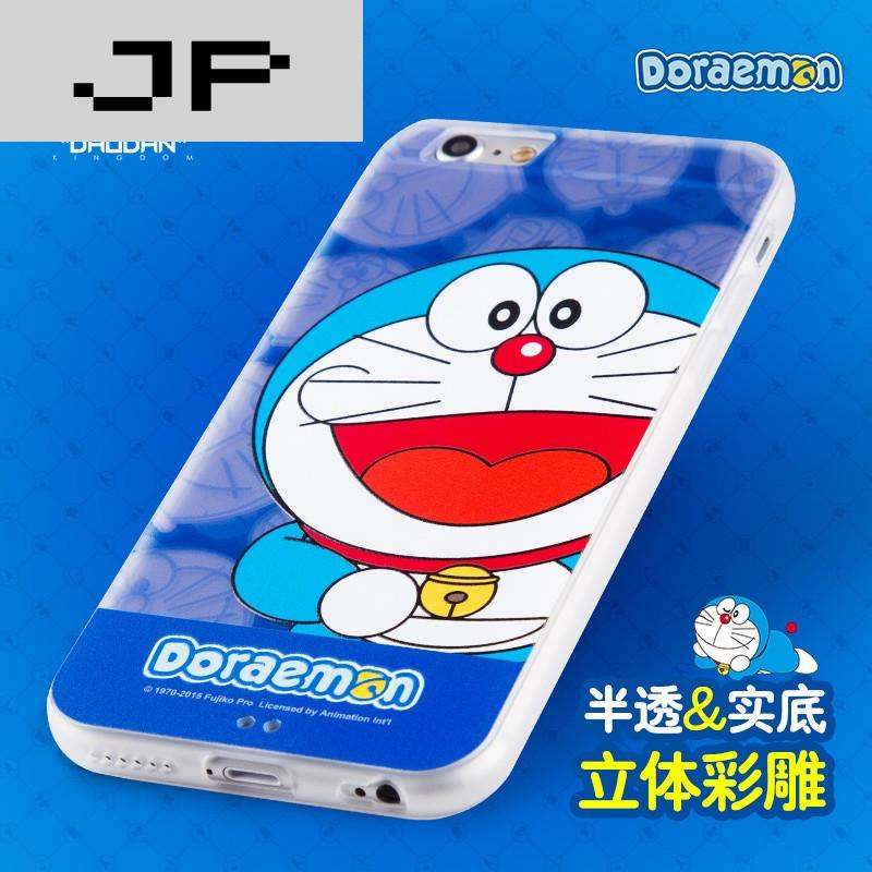 jp潮流品牌 哆啦a梦iphone6手机壳硅胶机器猫苹果六4.7寸卡通保护套