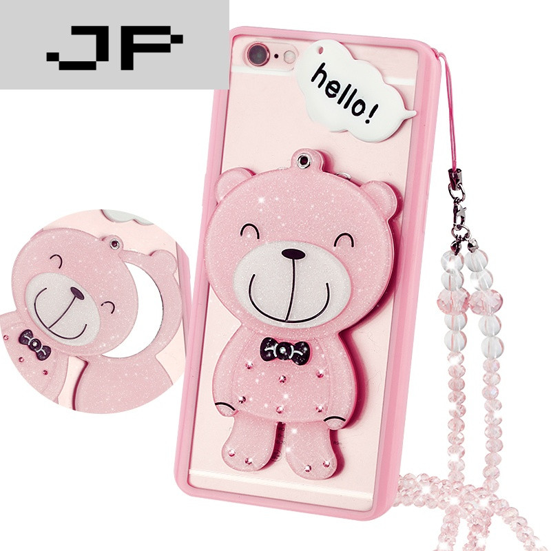 jp潮流品牌iphone6手机壳6s苹果6卡通可爱镜子保护套6