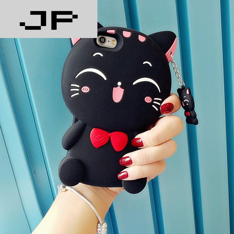 品牌iphone6s硅胶套手机壳防摔苹果6plus保护壳潮女可爱萌萌哒卡通猫