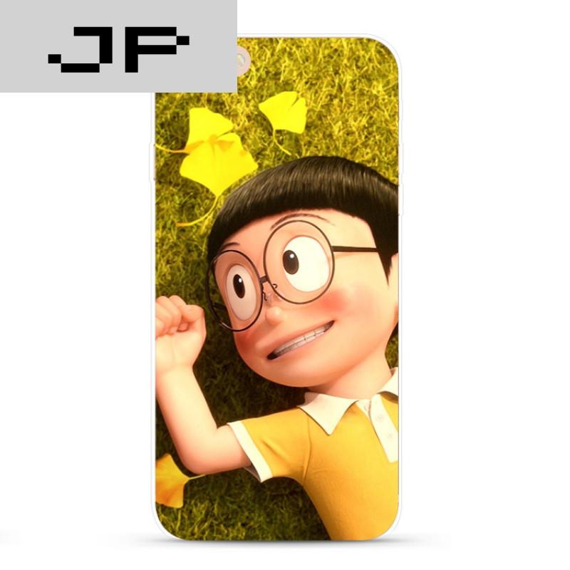 jp潮流品牌可爱卡通叮当猫苹果iphone7 6s plus 5s手机壳哆啦a梦男/女