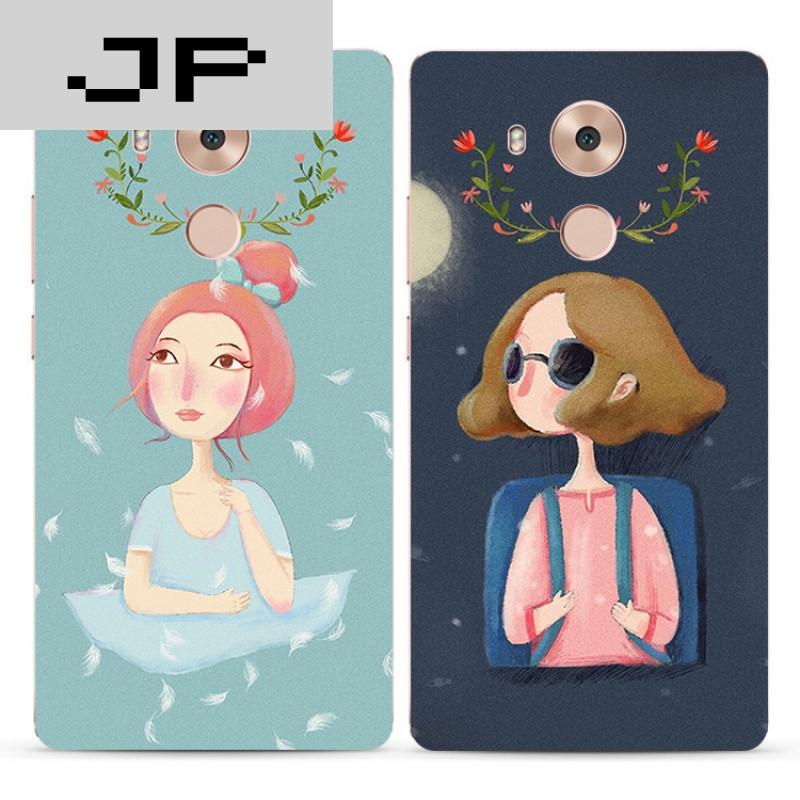 jp潮流品牌森系复古手绘女孩华为mate9 8 7 nova手机壳硅胶全包软壳防