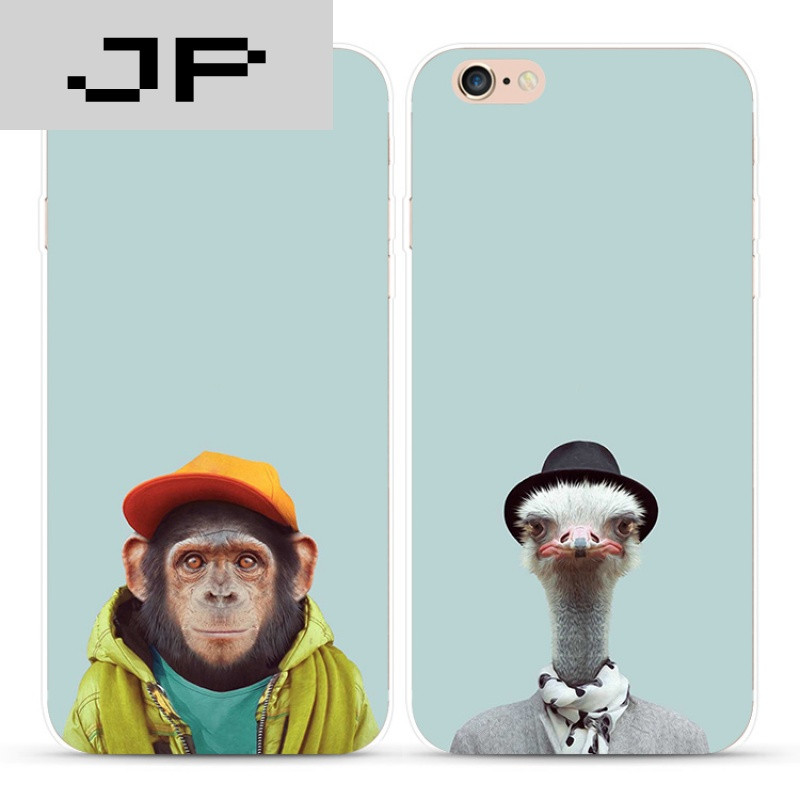jp潮流品牌个性创意简约搞怪动物苹果iphone7 6s plus