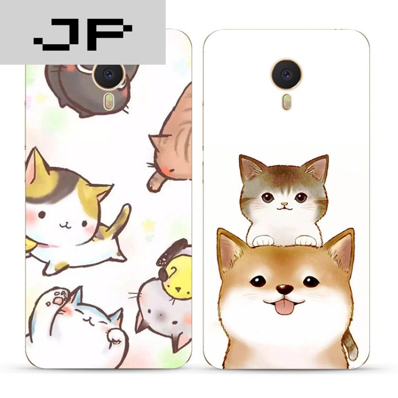 jp潮流品牌可爱卡通萌宠魅族魅蓝3s note5 3 2 metal手机壳单身汪狗狗
