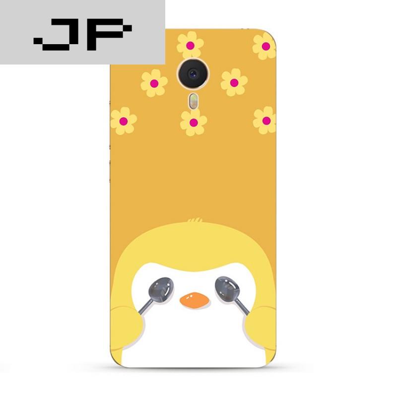 jp潮流品牌可爱卡通企鹅 魅族魅蓝3s note5 3 2 metal手机壳男/女全包