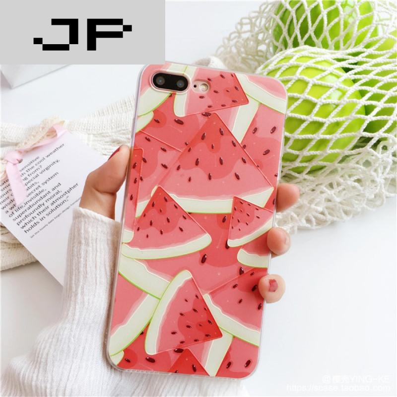 jp潮流品牌夏日小清新水果 iphone7手机壳苹果6/6s/7plus浮雕硅胶软壳