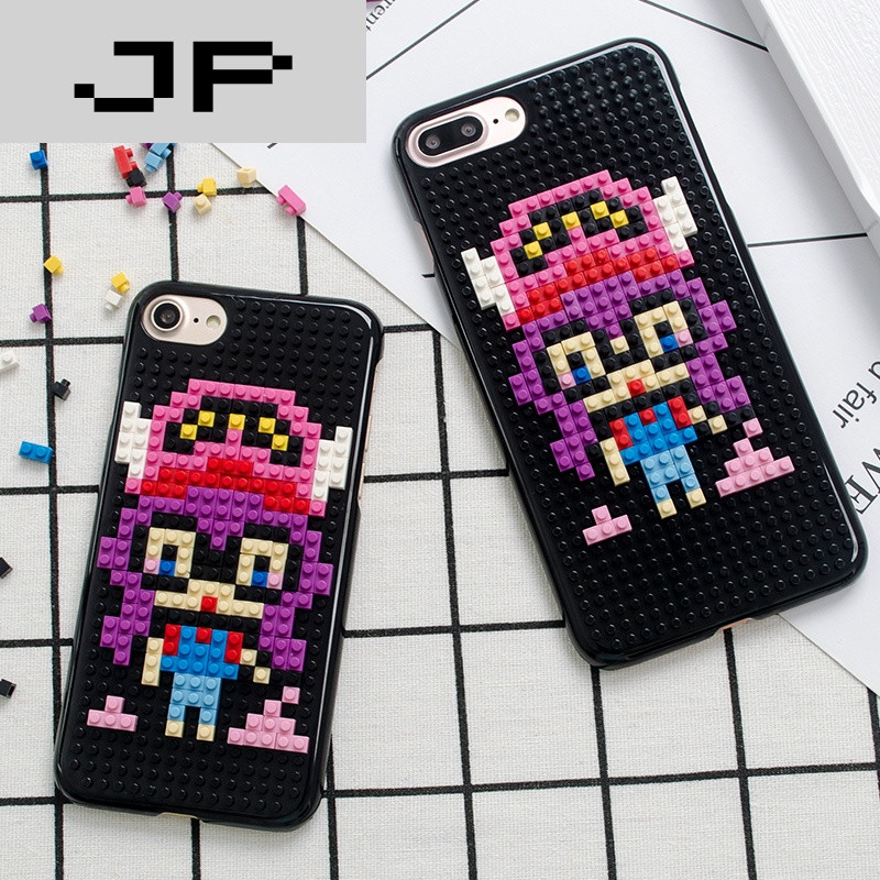 jp潮流品牌阿拉蕾iphone6手机壳乐高积木苹果6s外壳潮