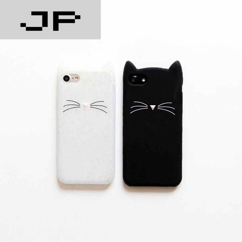 jp潮流品牌可爱卡通猫咪 苹果7手机壳iphone6s/6/plus