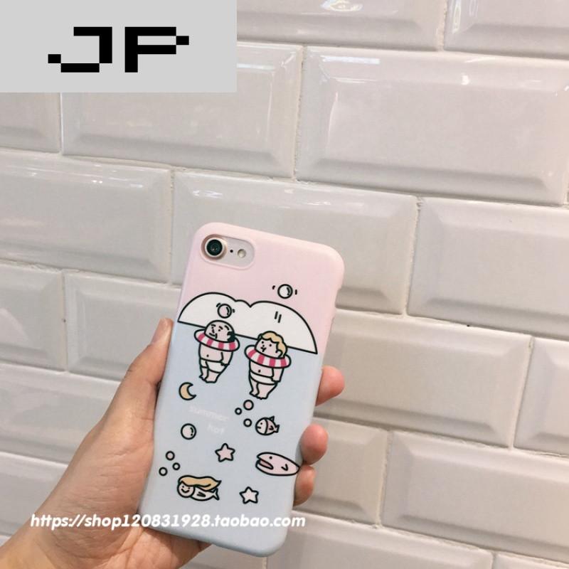 jp潮流品牌可爱减肥胖子游泳圈苹果6s/7手机壳iphone6